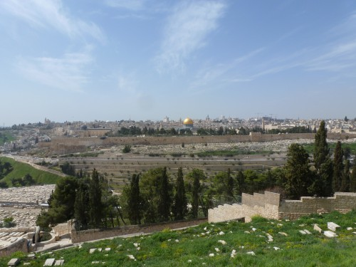 Blick vom Ölberg, Jerusalem (Foto: Michael Hölscher)