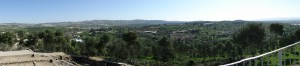 Blick von Sepphoris nach Nazaret (Foto: Thomas Hieke)