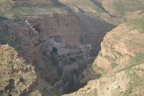 Das St. Georgskloster im Wadi Qelt